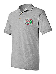 cheap -custom logo embroidered jersey polo, dry blend polo shirt, your company logo (xl, sports grey)