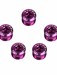 cheap -1pc single chainring bolts 7075 aluminum alloy m8 crankset single chainwheel bolts & nuts disc screws for road bike,mountain bike,(purple)