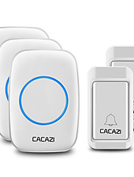 cheap -CACAZI Self-Powered Wireless Waterproof Doorbell No Battery Button Home Cordless Doorbell  38 Chime 4 Volume Receiver