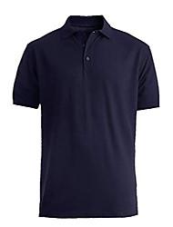 cheap -men's blended pique short sleeve polo 3xl royal blue
