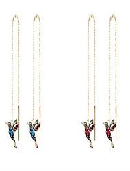 cheap -ladies elegant hummingbird rhinestone stud earrings, blue zircon lucky earrings, fashion jewelry drop hook earrings long pendant dangle jewelry for women (blue+red)