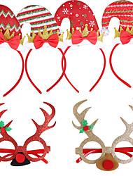 cheap -Christmas Toys Hair Band Photo Booth Props Christmas Glasses Elk Decoration Party Favors Plastic 2 pcs Kid's Adults 14cm*14cm*14cm Christmas Party Favors Supplies / Random Color