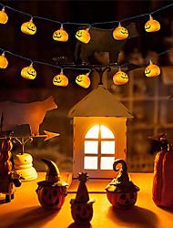 cheap -Halloween Pumpkin LED String Lights 2pcs 1.5m 2.5cm 10 LED Pumpkins Lights Garden Home Party Decoration Holiday Halloween Theme Accessories Cosplay Supplies