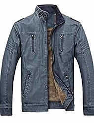 cheap -men's vintage casual pu leather jacket waterproof motorcycle jacket biker windbreaker