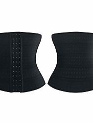 cheap -waist trimmer body shaping training belt stomach fat burner elastic strap cincher shapewear women black l
