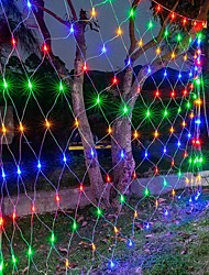 cheap -6Mx4M 672 LEDs Net Lights Curtain Lights Fishing Net for Christmas Holidays Party Décor Outdoor String Lights with 8 Modes Non-Waterproof Linkable 220-240V
