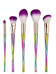 cheap -5pcs gradient tiny waist makeup brushes set foundation eye shadow powder beauty brush (5pcs)