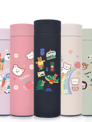 cheap -450ml Cute Bears 304 Stainless Steel Tumbler Insulated Water Bottle Portable Vacuum Flask for Travel Cup Colorful Coffee Mug