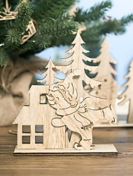cheap -Christmas Decorations Christmas Ornaments Holiday Decorations Wood Collectible