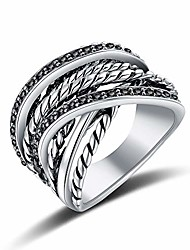 cheap -vintage silver intertwined wide band ring cz pave rings for women men size 7