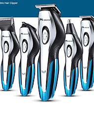 cheap -Surker Electric Hair Trimmer Sk-760 6 In 1 Rechargeable Hair Clipper Nose Hair Trimmer Hair Carving Electric Shaver Beardtrimmer