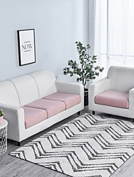 cheap -Stretch Sofa seat Cushion Cover Slipcover Jacquard Elastic Couch Armchair Loveseat 4 or 3 Seater White Grey Black Plain Solid Soft Durable Washable