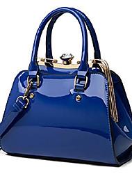 cheap -shiny patent leather handbags shoulder bags fashion satchel purses top handle bags for women