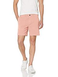 "cheap -amazon brand - men& #39;s 7"" inseam stretch canvas short, light pink 30"