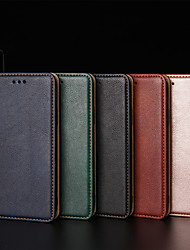 cheap -Phone Case For OPPO Full Body Case Leather Flip Oppo Find X2 OPPO F17 Pro OPPO A11x oppo A9 2020 OPPO A11 OPPO A5 2020 Oppo A92s Oppo Ace 2 Find X2 Pro Card Holder Flip Solid Color PU Leather TPU