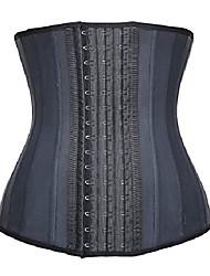 cheap -women's waist slimming corset latex waist trainer body shapewear (6xl/(fits 42-44 inch waistline), black)
