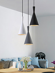 cheap -19 cm Single Design Pendant Light Modern Nordic Style Black White Gray Metal Painted Finishes 110-120V 220-240V