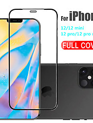 cheap -3D Full Cover Tempered Glass For iPhone 12 11 Pro Max 12 Mini Protective Films For iPhone 12 11 X XS MAX XR SE 2020 8 7 6 Plus 5 se Full Cover Screen Protector Tempered Glass