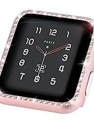 cheap -compatible for apple watch case 40mm iwatch series se/6/5/4 case women rhinestones metal face bling glitter frame cover bumper protective case for 40mm apple watch se series 6/5/4, rose pink