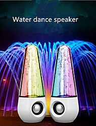 cheap -A Pair of Bullet Shape Water Dancing Colorful Music Speaker for Smartphone Notebook Laptop Desktop Computer