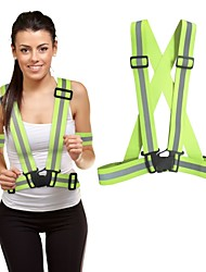 cheap -Reflective Vest Safety Vest Running Gear Adjustable Breathable Durable Class 2 High Visibility Reflective Strip Portable Lightweight Comfy Versatile for Running Cycling / Bike Jogging Dog Walking Men
