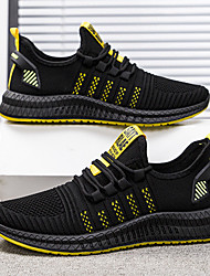 cheap -Men's Trainers Athletic Shoes Athletic Running Shoes Walking Shoes Mesh Black / Red White Yellow Fall Spring