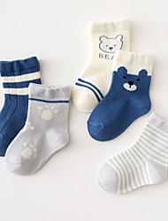 cheap -Kids Unisex Underwear & Socks 5 Pairs Rainbow Color Block