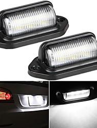 cheap -2Pcs 1.82W Universal High Brightness 6LED License Plate Light Car Truck Trailer Step Light Modification Waterproof