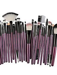 cheap -25pcs cosmetic makeup brush blusher eye shadow brushes set kit (purple)