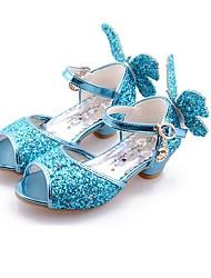 cheap -Girls' Sandals Comfort Novelty Flower Girl Shoes Microfiber Little Kids(4-7ys) Big Kids(7years +) Wedding Casual Dress Walking Shoes Bowknot White Purple Blue Fall Summer / Party & Evening / Peep Toe