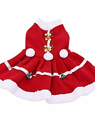 cheap -Dog Cat Head & Neck N / A Dog Clothes Puppy Clothes Dog Outfits Christmas dress Costume for Girl and Boy Dog Cloth