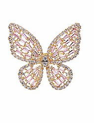 cheap -cubic zirconia butterfly ring sparkling crystal bow-knot knuckle ring wedding jewelry for women and girls (gold)