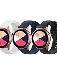cheap -Strap For Samsung Galaxy Watch Active 2 40/44mm / Watch 3 41mm Gear Sport wrist bracelet Watchband 20mm Watch Strap Samsung Active band 3pcs
