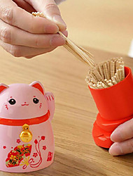 cheap -Lucky Cats Toothpicks Storage Box Japanese Style Home Kitchen Desktop Toothpick Holder Home Restaurant Decoration Gift