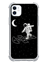 cheap -Astronaut Graphic Design Case For Apple iPhone 12 iPhone 12 Mini iPhone 12 Pro Max Unique Design Protective Case Shockproof Clear Back Cover TPU