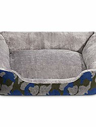 cheap -pet bed for dog and cat rectangle plush self-warming puppy sofa mat cushion, 24 x 22 x 6 inches, blue