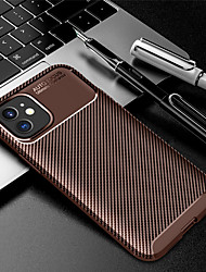 cheap -Phone Case For Apple Back Cover iPhone 12 Pro Max 11 SE 2020 X XR XS Max Embossed Solid Color TPU