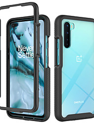 cheap -Case For OnePlus OnePlus 8 / OnePlus 8 Pro / OnePlus Nord Shockproof / Translucent Back Cover Geometric Pattern / Armor TPU / PC