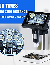 cheap -Experimental Maintenance Industrial Microscope HD 4.3-inch Built-in Screen Microscope 1000X Digital Electronic Magnifier