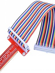 cheap -GPIO Breakout Expansion Board  Ribbon Cable  Assembled T Type GPIO Adapter 20cm FC40 40pin Flat Ribbon Cable for Raspberry Pi 3 2 Model