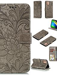cheap -Phone Case For Motorola Moto G9 Play G8 Play G8 Plus G8 Power G8 Power Lite Card Holder Flip Magnetic Full Body Cases Flower leather