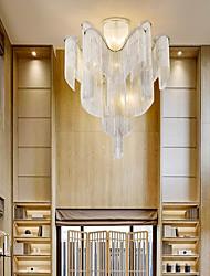 cheap -60 cm Ceiling Light Silver Tassels Flush Mount Luxury Modern Stainless Steel Metal 110-120V 220-240V