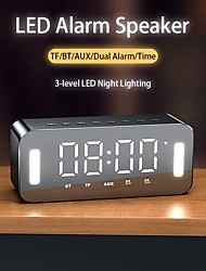 cheap -H8 LED Portable Bluetooth Speakers 25W Wireless Stereo Bass Hifi Speaker Support TF Card AUX USB Handsfree Night LED Night Clock
