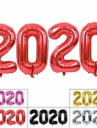 cheap -2020 happy new year balloons 40inch red 2020 foil number balloons aluminum foil mylar balloons for 2020 new year eve graduation christmas and anniversary party supplies (red)