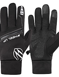 cheap -Winter Bike Gloves / Cycling Gloves Touch Gloves Waterproof Breathable Warm Wearable Full Finger Gloves Sports Gloves Black for Adults' Cycling / Bike Activity & Sports Gloves
