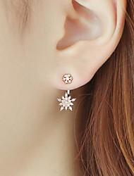 cheap -Women's Drop Earrings Dangle Earrings 3D Precious Fashion Earrings Jewelry Rose Gold / Silver For Christmas Halloween Party Evening Gift Date 1 Pair