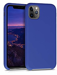 cheap -tpu silicone case compatible with apple iphone 11 pro max - soft flexible rubber protective cover - royal blue