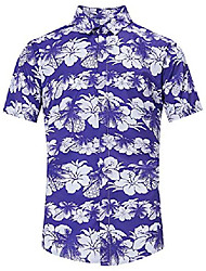 cheap -casual aloha hawaiian luau t shirts light green pmle tree black toucan 1950s custom polo button down shirt cute stylish ugly short sleeve shirt tropical shirts traditional hawaiian attire