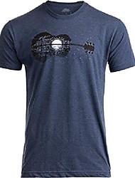 cheap -acoustic guitar moonrise   guitarist musician music player for man woman t-shirt-& #40;adult,3xl& #41; vintage navy