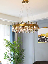 cheap -50/60/80 cm Crystal Chandelier Pendant Light Gold Stainless Steel Modern 110-120V 220-240V